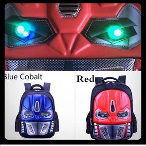 TRANSFORMER BACKPACK WITH LIGHT UP EYES